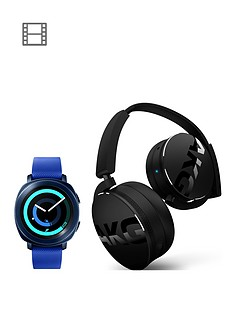 samsung-gear-sport-blue-with-free-akg-y50bt-bluetooth-headphones