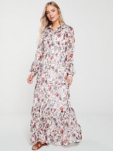 v-by-very-ruffled-button-front-maxi-dress-paisely