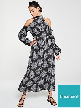 v-by-very-cold-shoulder-maxi-dress-mono-print