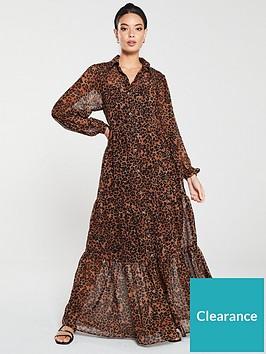 v-by-very-tierednbspprinted-maxi-dress--nbspleopard