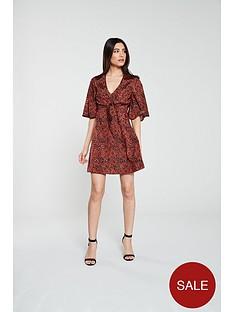 v-by-very-jacquard-tie-front-tea-dress-snake