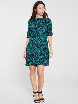 v-by-very-ruched-sleeve-crepe-tunic-print