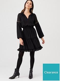 v-by-very-eyelet-detail-ruffle-dress-black