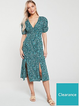 v-by-very-ruched-sleeve-cross-front-crepe-midi-dress-paisley-print