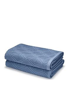 catherine-lansfield-diamond-sculpture-towel-range-blue