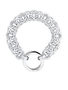 karen-millen-hoop-chain-bracelet--nbspwhite