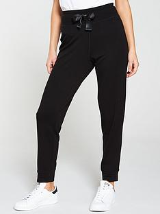 dkny-sport-cosy-knit-satin-logo-drawcord-sweatpants-black