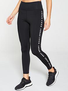 dkny-sport-logo-stripe-leggings-black