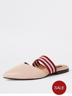d0ea038b7330 River Island River Island Leather Point Backless Slip On Mules - Light Pink