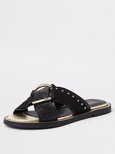 river-island-river-island-cross-front-slip-on-sandal-black