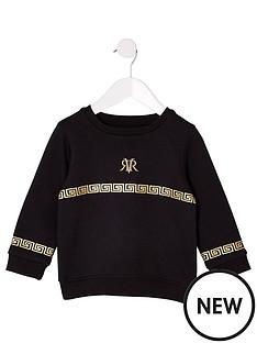 river-island-mini-boys-ri-foil-print-sweatshirt-black