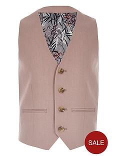 river-island-boys-linen-suit-waistcoat-pink