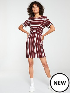 v-by-very-cross-front-dress-stripe