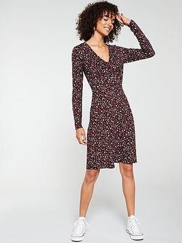v-by-very-twist-front-long-sleeve-dress-ditsy-print