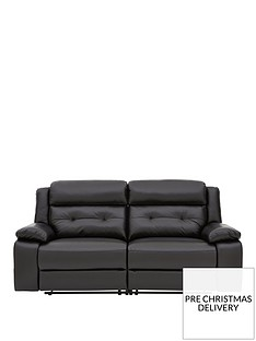 martellenbspreal-leatherfaux-leather-3-seater-manual-recliner-sofa