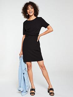 v-by-very-cross-front-dress-black