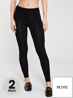 v-by-very-the-essential-petite-2-pack-basic-leggings-black