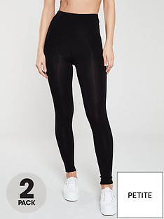 v-by-very-petite-the-essential-petite-2-pack-high-waist-leggings-black