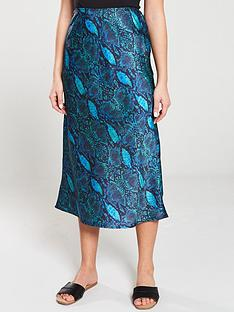 v-by-very-animal-satin-bias-midi-skirt-blue