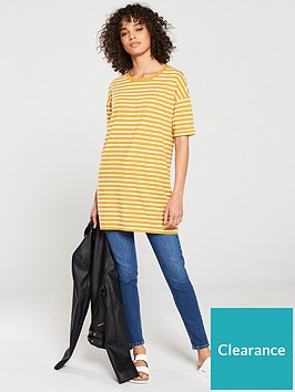 v-by-very-the-essential-three-quarter-sleeve-longline-top-cream-mustard