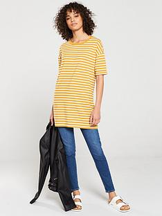 v-by-very-the-three-quarter-sleeve-longline-top-cream-mustard