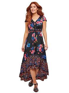 04a32d330be Joe Browns Joe Browns Funky Fishtail Border Print Dress