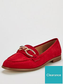 v-by-very-malabo-hardware-detail-loafer-red
