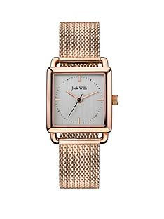 jack-wills-jack-wills-loring-silver-and-rose-gold-detail-square-dial-rose-gold-stainless-steel-mesh-strap-ladies-watch