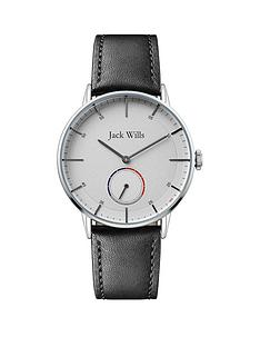 jack-wills-jack-wills-batson-ii-white-with-red-and-blue-second-counter-dial-black-leather-strap-mens-watch