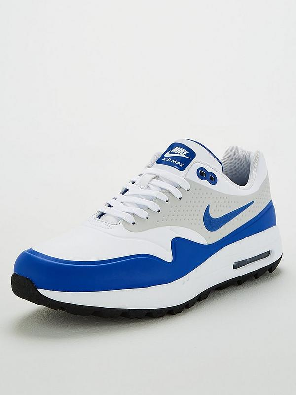 Air Max 1G Golf Shoes WhiteGreyBlue