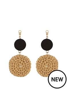 v-by-very-raffia-circle-earring-black-natural