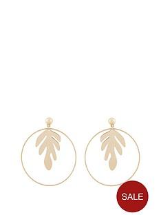 v-by-very-leaf-trim-hoop-earring