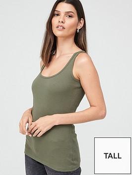 v-by-very-tallnbspthe-essentialnbsprib-vest-khaki