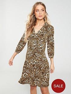 v-by-very-collar-frill-dress-leopard-print