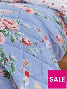 catherine-lansfield-canterbury-bedspread-throw-blue