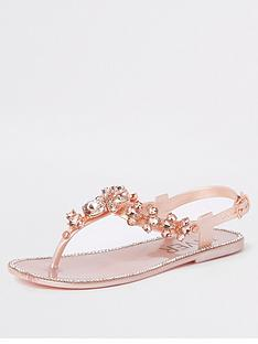 712cb73ac River Island Girls embellished jelly sandals