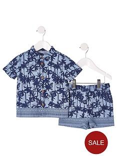 river-island-mini-mini-boys-palm-print-tshirt-outfit-blue