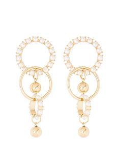 river-island-river-island-pearl-detail-drop-earrings-gold