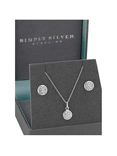 jon-richard-simply-silver-cubic-zirconia-round-pave-disc-pendant-and-earrings-set