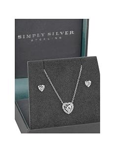 jon-richard-simply-silver-cubic-zirconia-halo-heart-pendant-and-earrings-set