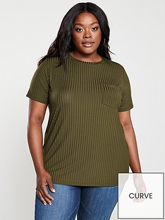 v-by-very-curve-slinky-rib-t-shirt-khaki