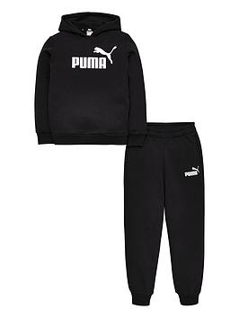 puma-essentials-logo-hooded-sweat-suit-black