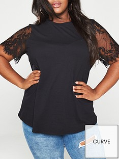 v-by-very-curve-valuenbsplace-sleeve-t-shirt-black