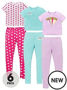 v-by-very-girls-3-pack-rainbow-dreamer-pyjamas-multi