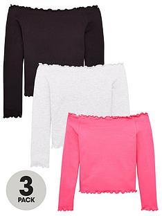 v-by-very-girls-3-packnbspbardot-long-sleeve-tops-multi