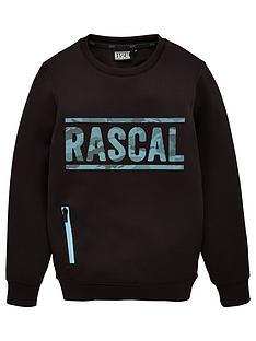 rascal-azul-crew-sweat-black