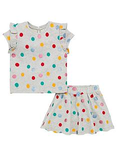 v-by-very-girls-embroidered-glitter-spot-jersey-skirt-set-grey