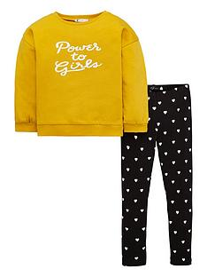 v-by-very-girls-lsquopower-to-girlsrsquo-slogan-sweatshirt-and-ribbed-legging-set-ochre