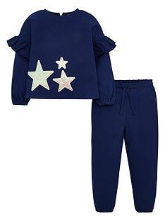 v-by-very-girls-frill-detail-sequin-jog-set-blue