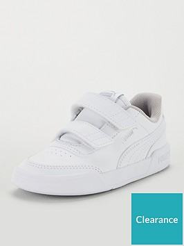 puma-caracal-v-infant-trainers-whitesilver